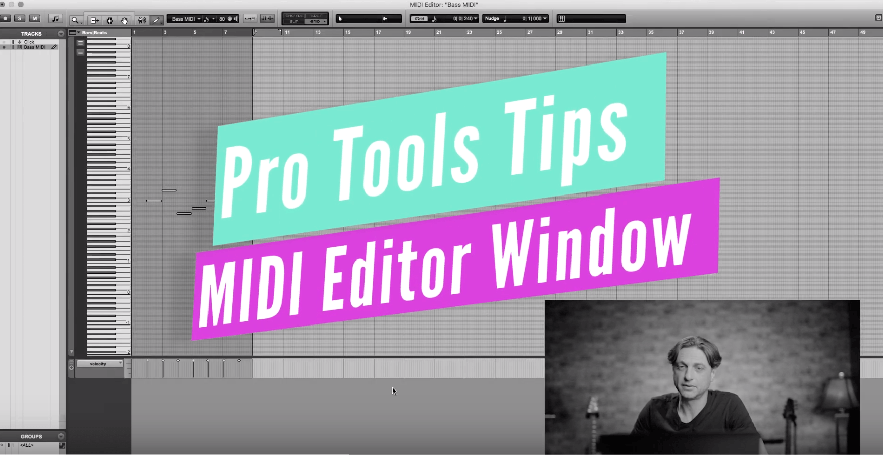 How To Use Pro Tools MIDI Editor Window - Tutorial