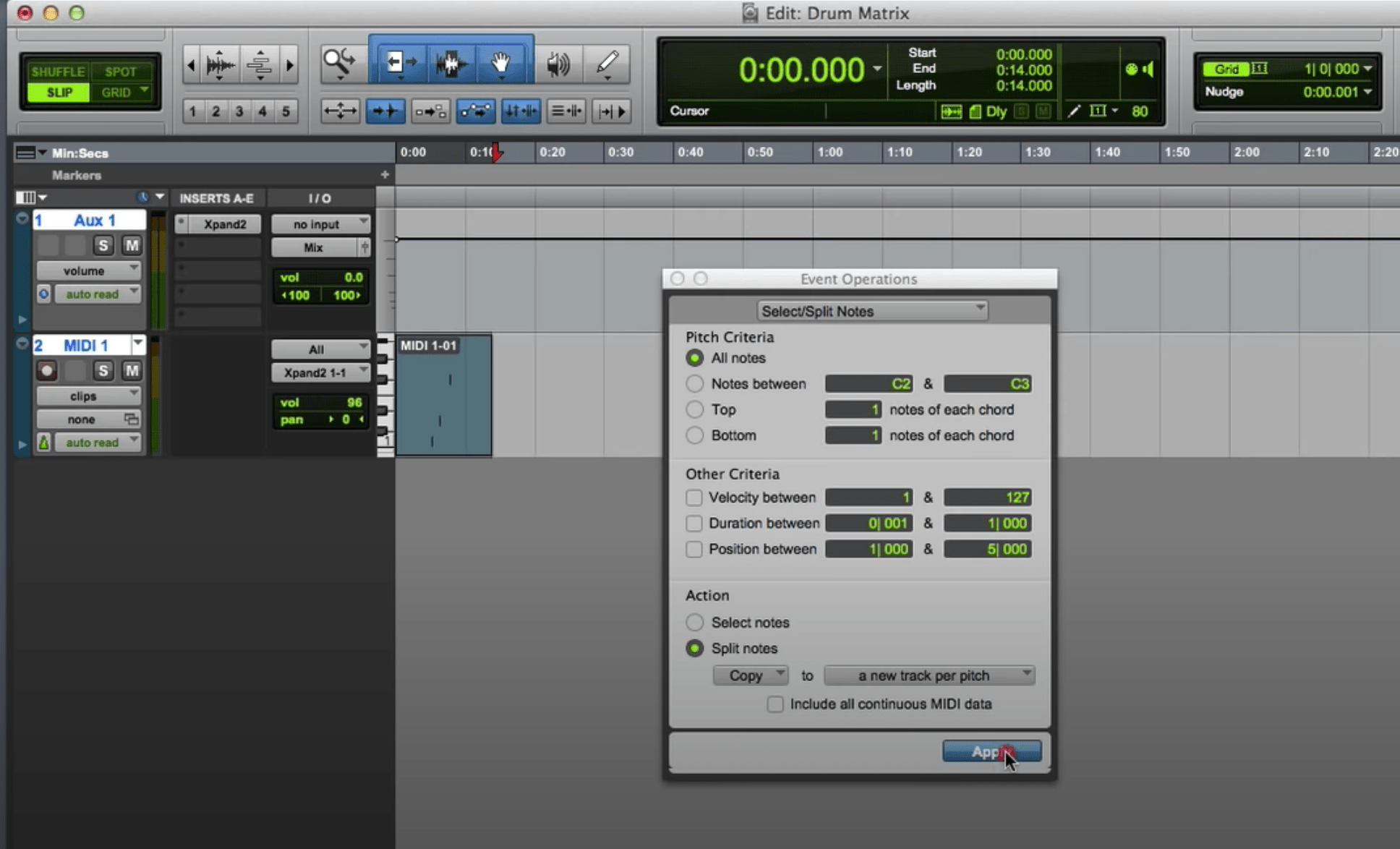 Create A Multitrack Drum Sequence In Pro Tools