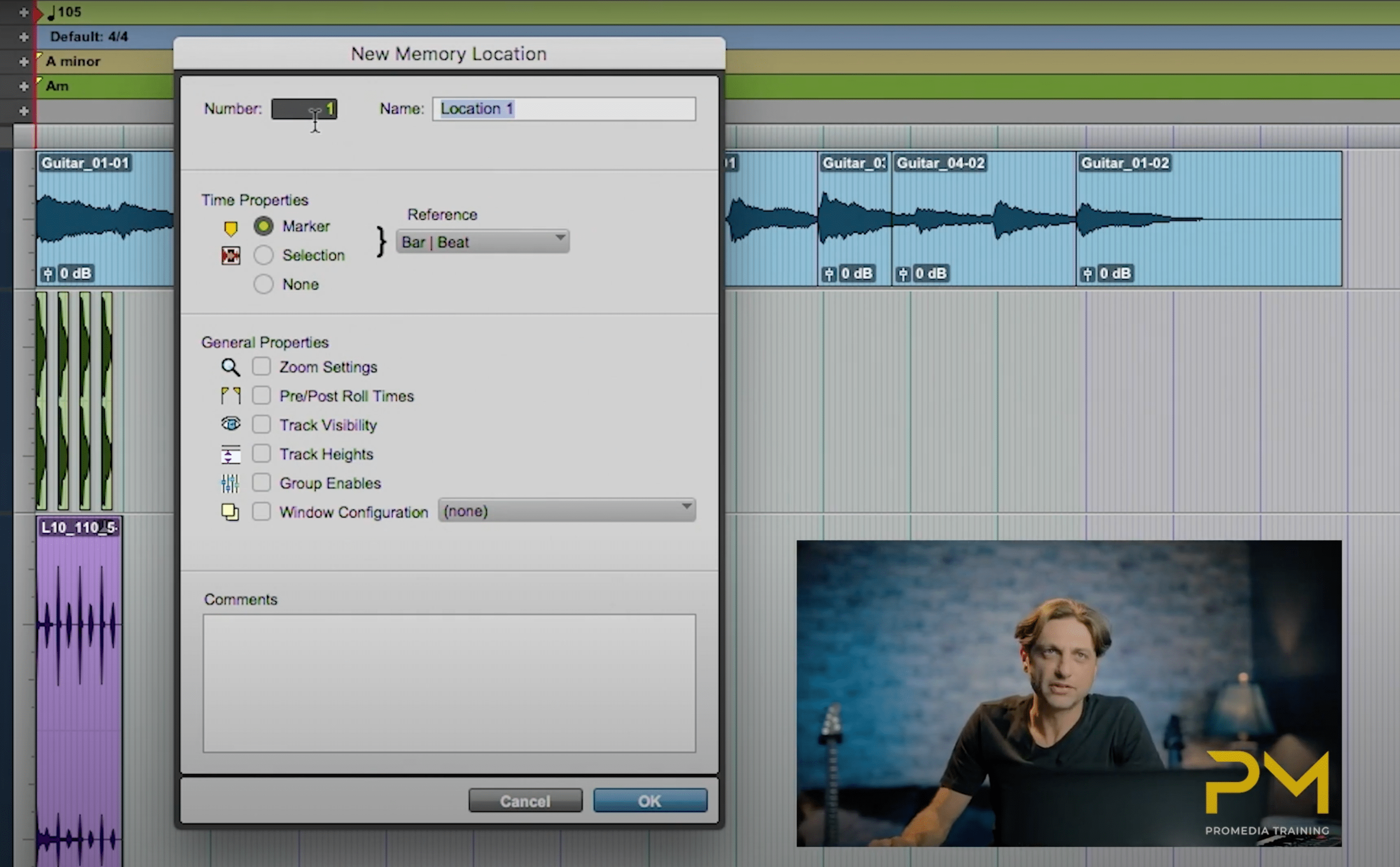Video Tutorial-Memory Locations In Pro Tools