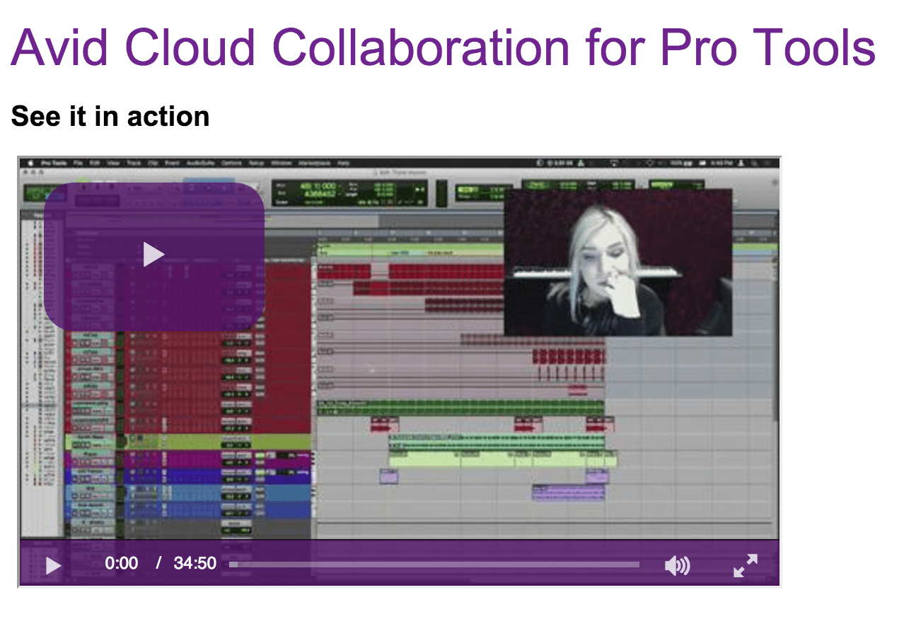 Pro Tools Cloud Collaboration Demo