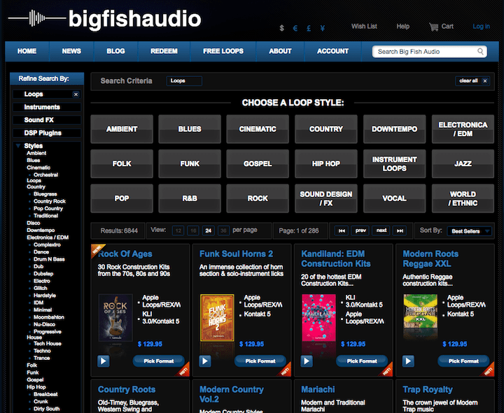 big fish audio website