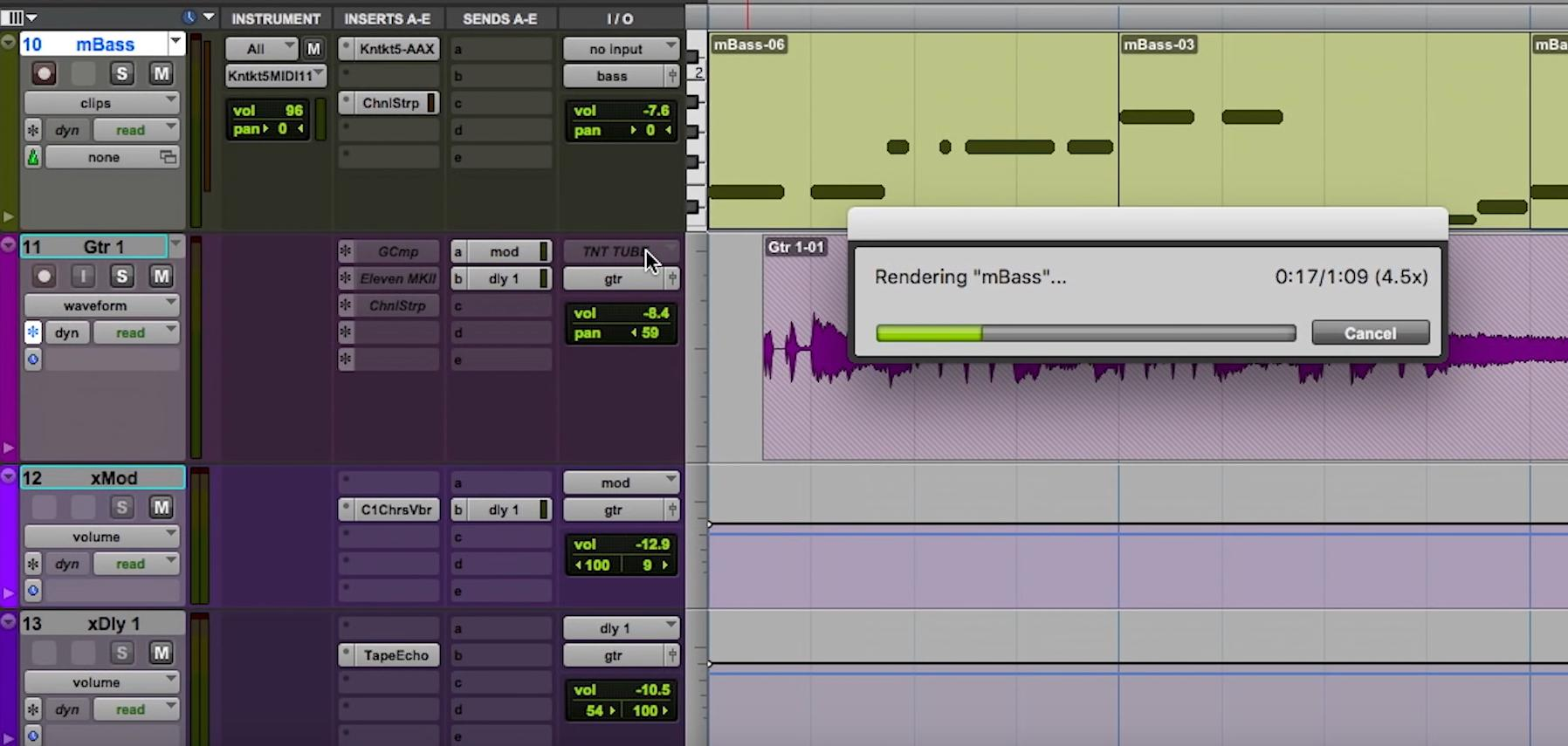 Pro Tools 12.4 Freeze Render