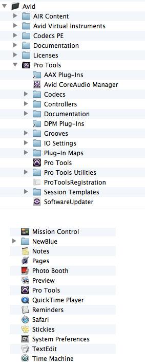 Pro Tools 10 Application Folder